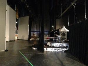 Backstage toward SR